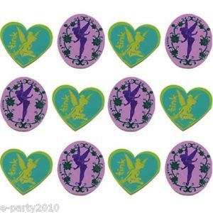 12 Disney Fairies Tinkerbell Erasers Birthday Party Supplies Favors