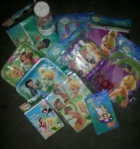 Disney Fairies Tinkerbell Party Supplies Deluxe Package Set for 8