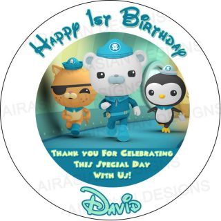 Disney Octonauts Birthday Party Round Favor Loot Bag Sticker Labels Lollipop