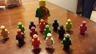 160 Lego Man Crayon Minifig Party Favor Ninjago Minifigure Free 4 inch Lego Man