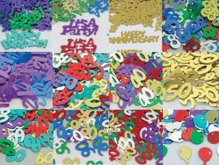 Confetti Qualatex Happy Birthday Anniversary Party Table Card Decorations