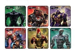12 Real Steel Movie Stickers Kids Robot Party Goody Loot Treat Bag Favors Supply