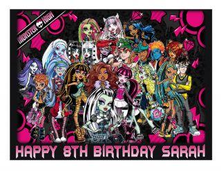 Monster High Edible Party Cake Topper Cake Image Sheet