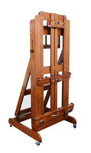 Large Counterweight Wooden Wood Artist Painting Drawing Studio Art Easel Work