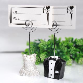 Wholesale 100pcs Bride Groom Place Card Holders Wedding Bridal Shower Party Card