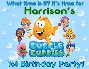 Bubble Guppies Birthday Party Welcome Sign Door Room Banner Sign Laminated