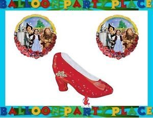 Wizard of oz Birthday Party Supplies Balloons Ruby Slipper Dorothy Emerald Lion