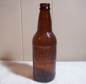 Brown Embossed IBC Root Beer Bottle 12 FL oz Empty Bottle