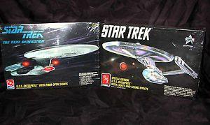 Star Trek USS Enterprise AMT Model Kits with Fiber Optics and Lights and Sound