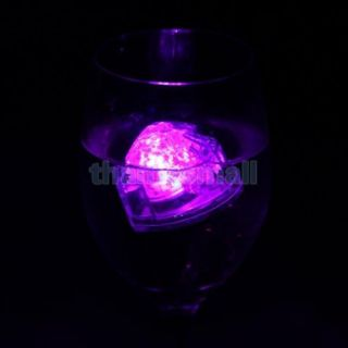 12x Heart Shape Colorful LED Floating Water Light Lamp Wedding Party Decoration