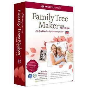 2011 Family Tree Maker Platinum Edition New UK Version