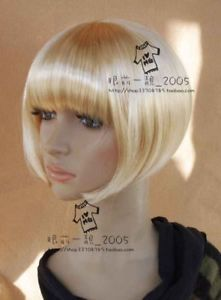 2121 New Short Blonde Cosplay Party Bob Wigs