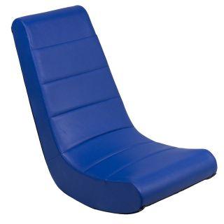 ... X Video Rocker Gaming Game Chair Navy Blue Vinyl 51034 ...