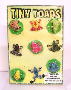 New Mini Tiny Toads Frogs Vending Display Party Favors Figures Figurines PVC
