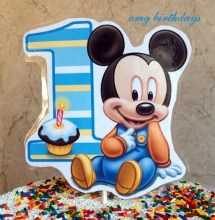 Baby Mickey Mouse Cake Topper Top Centerpiece Birthday Party Smash Diaper Smash