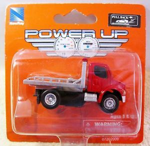 "New Ray ""Power Up Series"" Flatbed Tow Truck ""Pullback Toy"" Cool"