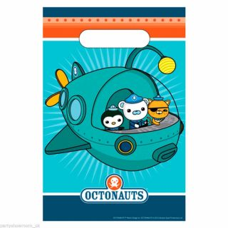 8 Octonauts Party Adventure Barnacles Kwazii Peso Plastic Gift Loot Bags