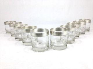 10 Dorothy Thorpe Sterling Silver Hi Ball Glasses Vtg Mid Century Modern Mad Men