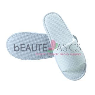 100 Cotton Waffle Slippers Spa Salon Wedding Party Travel AS159