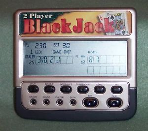 Deluxe 2 Player Blackjack Hand Held LCD Game Radio Shack 60 2668