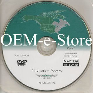2006 2007 2008 Aston Martin Vantage DB9 Navigation DVD Disc West Coast Map