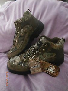 Realtree APG Camo Hiker Boots Turkey Archery Hunting Fishing Hiking Men 12