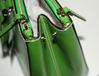 Kate Spade Martine Wellesley Leather Satchel Tote Bag $398 Emerald Green