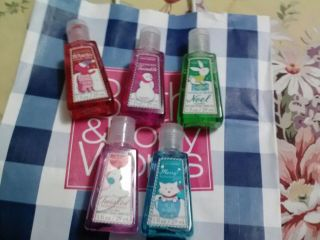 Lot of 6 Bath Body Works PocketBac Mini Anti Bacterial Hand Gel Sanitizers