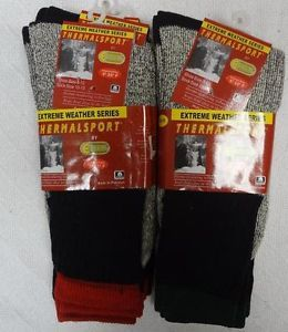 6 Pairs Men's Cotton Extreme Thermal Sport Thermal Winter Socks 10 13