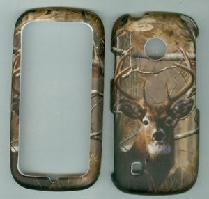 Real Tree Buck Deer Rubberizd Tracfone LG 505C LG505C Phone Cover Hard Case