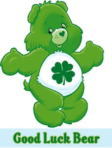 Care Bear Good Luck Bear T Shirt Iron on Transfer 8x10 5x6 3x3 Light Fabric