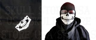 Black Motorcycle Skeleton Face Mask Skull Bandana Biker Wind Jaw Bone Neck Scarf