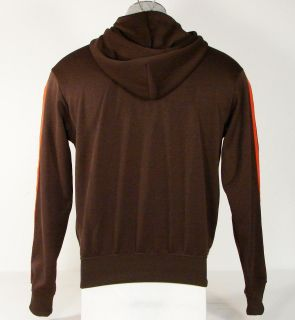Adidas Originals Trefoil Hooded Track Jacket Brown Hoodie Mens