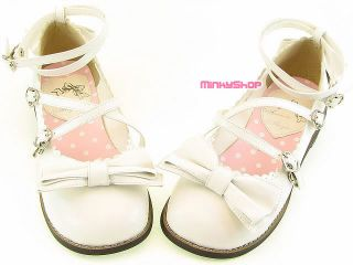 Japanese Gothic Lolita Bow Tea Party Shoes Flats Kera S