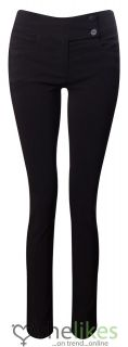 Womens Ladies Black Girls School Trousers Stretch Hipster Trouser UK Sizes 6 14