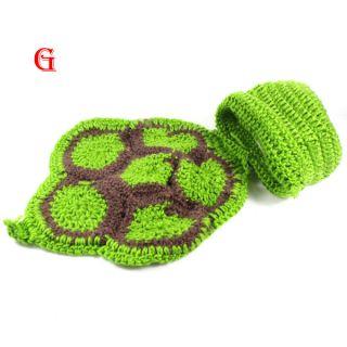Kids Baby Toddler Photo Prop Beanie Flowers Animal Hat Cap Knit Crochet Costume