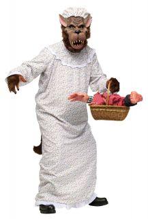 Plush Furry Storybook Big Bad Granny Wolf Teen Adult Standard Costume Mascot