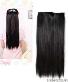 Lady 5 Clips One Piece in Long Straight Curly Wavy Synthetic Hair Extension NC89