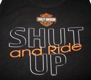 Mens XL Black Sleevelesstank T Shirt Harley Davidson Milwaukee Wi