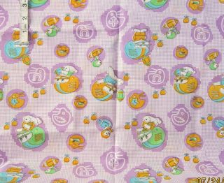 3yds Childs Lavender Bunny Chicks in Football Helmets Print Cotton Fabric