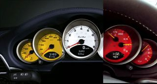 Porsche 996 997 Custom Colored Gauges Red Yellow White Blue Etc
