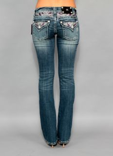New Womens Miss Me JP5124B11 Daisy Duke Boot Cut Embellished Jeans 30