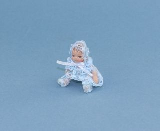 Beautiful Dollhouse Miniature Porcelain Baby Doll WCPD128B