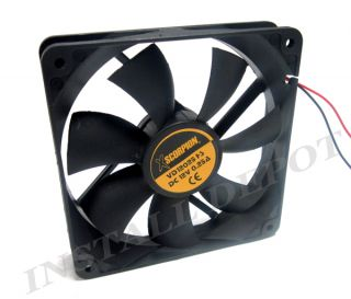 New 6 inch 12 Volt x Large Car Amplifier Amp Cooling Fan Car Audio Heat Control