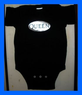 Queen Freddie Mercury Baby Onesie T Shirt Rock New