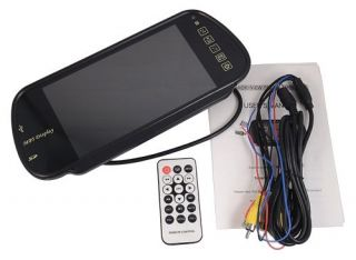 """7"""" TFT LCD Color Car Rearview Mirror Monitor MP5 SD USB FM Touch Key"""