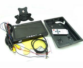 """7"""" TFT LCD Car Rear View Monitor 2 4G Wireless Car Backup Camera Night Vision"""