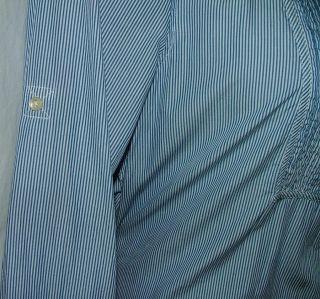 Gap Blue White Stripe Shirt Dress Womens Size XL Corset Lace Back