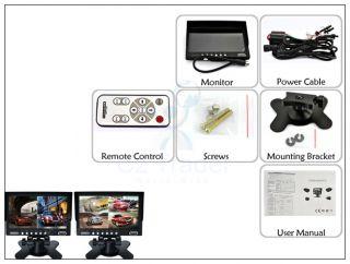 "7"" Truck Long Car CCTV 4 Channel Quad Splitter Video Color LCD Monitor Screen"