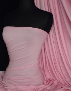 Baby Pink Viscose Cotton Stretch Lycra Fabric Material